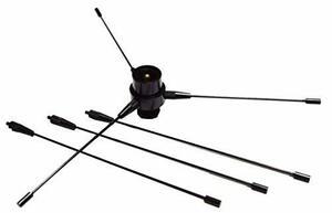新品EU黒 M型59-TWモービルアンテナ ラジアル エレメント アンテナ UHF VHF 両用 M接栓 オス メス 144/4