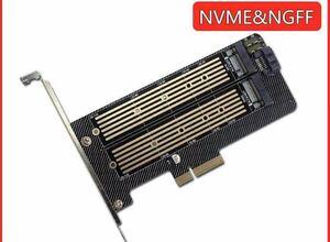 M.2 NVMe SSD変換PCIeカード SATAコンボ