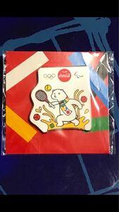 コカ・コーラ 東京オリンピック ピンバッジ 未開封 オリジナルピンズ テニス