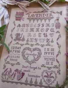 クロスステッチキット ラベンダーガール リース モチーフ 18CT 36×50cm 刺繍