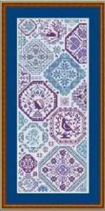 クロスステッチキット レトロモチーフ 18CT 25×49cm 刺繍
