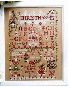クロスステッチキット クリスマスガール② 18CT 刺繍 モチーフ 37×51cm