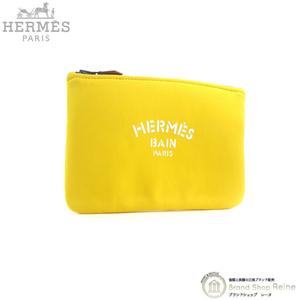 中古 エルメス (HERMES) ネオバン PM ジャガー スモール フラット ポーチ クラッチ バッグ H103159M イエロー