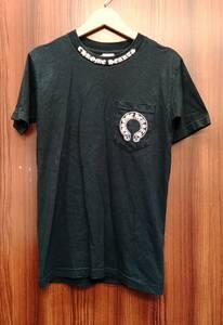 CHROME HEARTS / クロムハーツ 半袖Tシャツ プリント ポケット ブラック サイズS