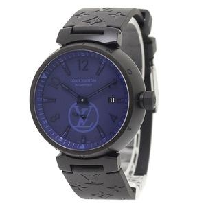 ルイ・ヴィトン タンブール モノグラム パシフィック 2018SS限定モデル 自動巻き 腕時計 QA023 保証書あり(美品)