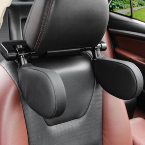 スリープサイドヘッドサポート カーシートヘッドレスト ナイロン カーネックピロー サイド 子供用 高弾性 リトラクタブルサポート