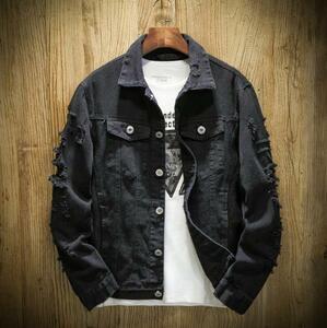 ジャケット メンズ Gジャン ジャンパー ジージャン メンズデニムジャケット ダメージ加工 ブルゾン