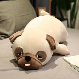 犬 ぬいぐるみ ビッグサイズ 動物 かわいい パグ 90センチ 睡眠枕 女の子 子ども 誕生日 ギフト 男の子