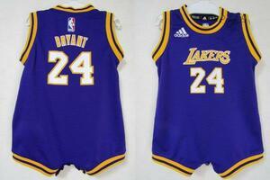 激レア! NBA LAKERS コービー・ブライアント BRYANT #24 ロサンゼルス・レイカーズ adidas製 赤ちゃん ベビー ユニフォーム ロンパース