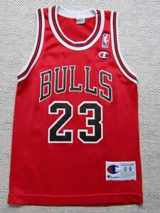 NBA JORDAN #23 BULLS マイケル・ジョーダン シカゴ・ブルズ Champion チャンピオン製 ジュニア ユニフォーム タンクトップ シャツ 当時物