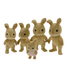 訳あり シルバニアファミリー 人形5点セット 人形 エポック社