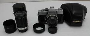 MINOLTA ミノルタ カメラ SRT101 レンズ MC ROKKOR-PF 1:1.7 f=55mm ROKKOR-QD 1:3.5 f=135mm