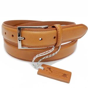 イタリアンレザー メンズ本革ベルト TAN 牛革 ビジネスベルト 3cm巾 KHB-08TN