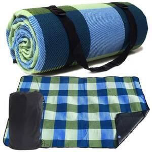 GB23 レジャーシート 厚手 グリーン×ブルー 200×300cm 収納袋付き
