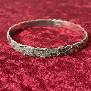 SV925 銀無垢 laulea ハワイアンジュエリー バングル ブレスレット