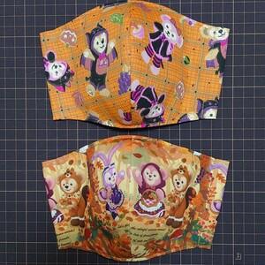 秋ダッフィー ハロウィンダッフィー 二枚組 大人女性サイズ 立体インナー
