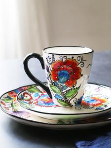 【特売】鮮やかなカラーがおしゃれ☆マグカップ 花柄 コーヒー 紅茶 スープ ミルク 華やか ギフト プレゼント オフィス A