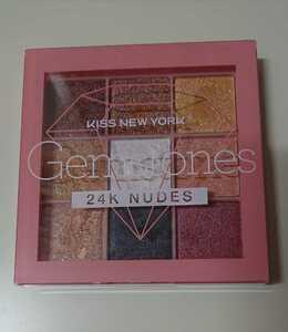 美品アイシャドウパレット、 kiss newyork、Gemstones 24K NUDES ジュエリーパレット ジェムストーン、