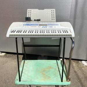 【カシオ CASIO LK-180TV 光ナビゲーションキーボード 61鍵盤 動作確認済 スタンド付】