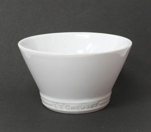 未使用 LE CREUSET/ル・クルーゼ ストーンウェア ミディアムボウル 食器 白 ホワイト 洋食器 お茶碗