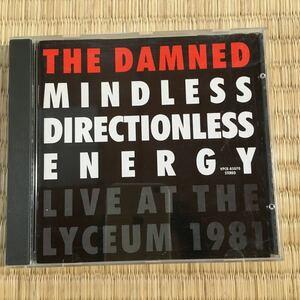 送料無料 国内盤 ザ・ダムド THE DAMNED Mindless Directionless Energy - Live At The Lyceum 1981 ウィラードのJUNが解説 LOVE SONG