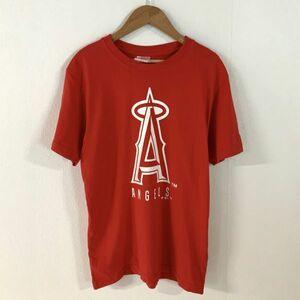 美品 MLB ロサンゼルスエンゼルス ANGELS ビッグロゴ 半袖 tシャツ メンズ Mサイズ レッド 大谷翔平