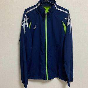 【2XO】asics ジャージ ネイビー トレーニングウェア ランニングウェア ジョギング 野球 陸上 サッカー フットサル