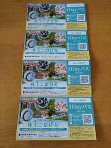 東京サマーランド 株主優待券 ご招待券 入園券 入場券 1dayパス 2枚セット 期限9/30