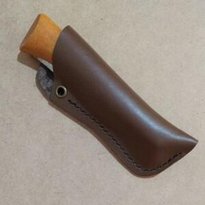 【ハンドメイド】水に強い本革のオピネルナイフNo8専用シース