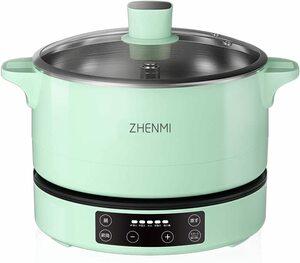 【シェンミポット】自動昇降機能付きIH鍋 グリル鍋 保温 蒸し 煮る マルチ調理 一台多役 大容量 4L コンパクト