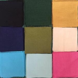 カットクロス計27枚☆5cm×5cm 9色×3枚 無地 カラー 布 はぎれ 虹