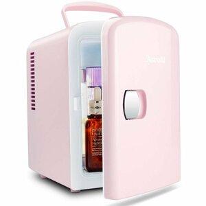 冷蔵庫 小型 ミニ冷蔵庫 冷温庫 ポータブル 4L 6缶 静音 持ち運び 化粧品 一人暮らし 1人暮らし