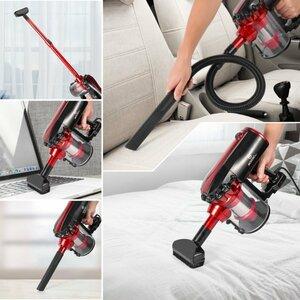 掃除機 吸引力 軽量 サイクロン 17000Pa 600W クリーナー 大掃除 塵 ハンディ スティッククリーナー HEPAフィルター