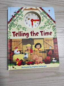 Usborne子供英語絵本 Telling the time 大判サイズ ボードブック 入手難 farmyard tales