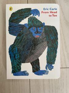 こども英語絵本 english book 「From head to toe」 ボードブック Eric Carle