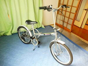 折りたたみ自転車 超美品 GSR ジャイアント スペシャル レンジ アルミフレーム 軽量14kgモデル 6段変速 折畳み シルバー 大阪 引取り可