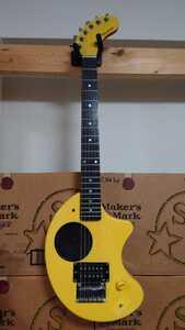 FERNANDES フェルナンデス ZO-3 ぞうさん アンプ内蔵 エレキギター 黄色 イエロー 中古 ジャンク 扱い その2