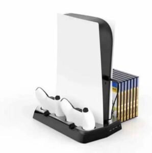PS5 充電スタンド PS5多機能スタンド 冷却 収納 放熱 保護 2台同時充電