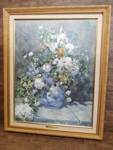 ルノワール 春のブーケ 油彩 複製画 印象派 静物 植物 バラ 薔薇 ブーケ 花瓶 /SR5