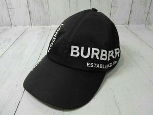 BURBERRY バーバリー イタリア製 ベースボールキャップ ナイロン 8015894 帽子 ブラック M 店舗受取可