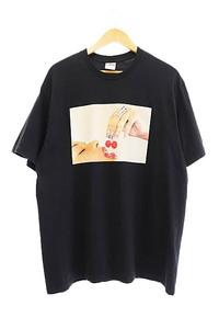 シュプリーム SUPREME 20SS Cherries Tee チェリー フォト プリント 半袖 Tシャツ L 黒 ブラック ☆AA★