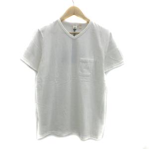 未使用品 バーンズアウトフィッターズ × ノーリーズ Nolley's Tシャツ カットソー 半袖 Vネック 無地 L オフホワイト /YS43 メンズ