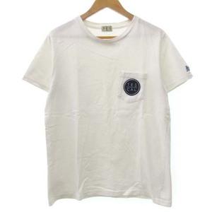 エンドレスサマー The Endless Summer TES Tシャツ 半袖 クルーネック 丸首 ワッペン ロゴ 白 ホワイト S FK メンズ