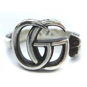 グッチ GUCCI ダブルG GG キー リング 指輪 鍵モチーフ 12号 #12 シルバー 銀 SV925 アクセサリー メンズ/レディース/ユニセックス