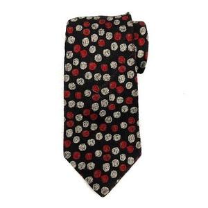 ワイズフォーメン Y's for men ヨウジヤマモト ネクタイ シルク100% ドット柄 黒 ブラック 赤 ベージュ /YM ●D メンズ