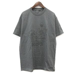 セブンハンドレッドフィル 700Fill 1LDK取扱 ガンジー Tシャツ カットソー クルーネック 半袖 L チャコールグレー /SR5 メンズ