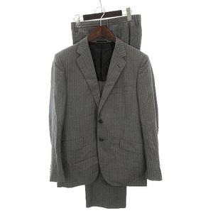 ユナイテッドアローズ UNITED ARROWS スーツ ジャケット テーラード シングル 2B パンツ スラックス ストライプ 薄手 春夏 グレー 50