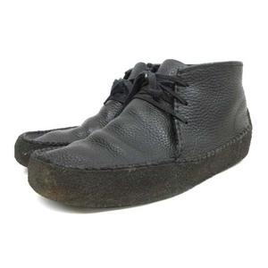 クラークス clarks ORIGINALS ワラビーリッジ ブーツ 26066010 シボレザー 9.5M 25.5cm 黒 ブラック IBO14 C082403 メンズ