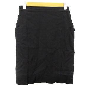フレームワーク Framework スカート タイト ひざ丈 38 黒 ブラック /AAM30 レディース