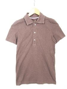 フォーティーファイブアールピーエム 45R 45rpm ポロシャツ 半袖 小さめ コットン 0 ブラウン rb0213